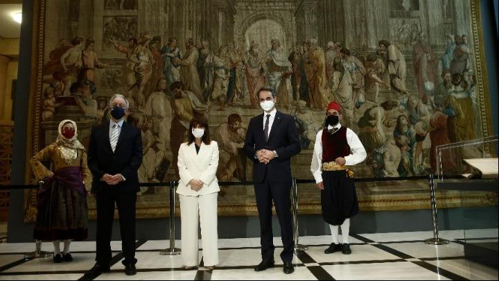 Εγκαίνια έκθεσης «Αντικρίζοντας την Ελευθερία»: Χαιρετισμοί ΠτΔ, Κ. Τασούλα και Γ. Αγγελοπούλου