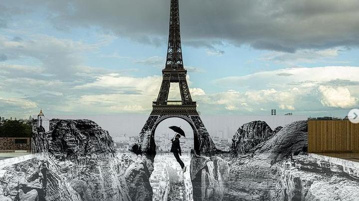 O Πύργος του Άιφελ να… στέκεται πάνω από ένα φαράγγι