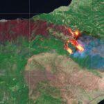 Ο ευρωπαϊκός δορυφόρος Sentinel-2 φωτογράφισε τη μεγάλη πυρκαγιά στην Κορινθία