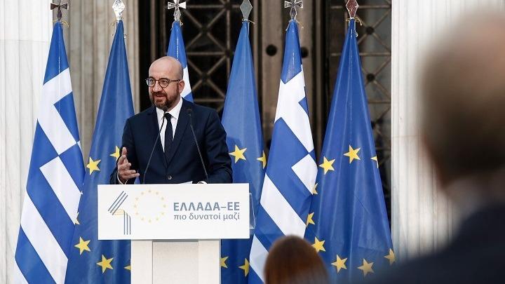 «Ελλάδα, Ευρώπη, Δημοκρατία και ελευθερία» το μήνυμα του Σαρλ Μισέλ στα ελληνικά