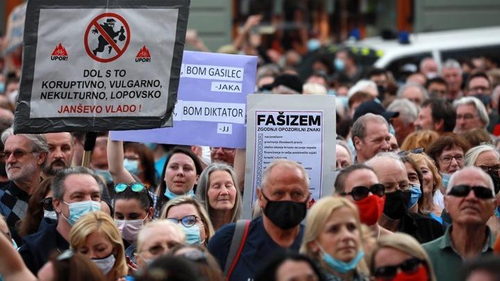 Σλοβενία: Νέα διαδήλωση εναντίον του πρωθυπουργού Γιάνες Γιάνσα